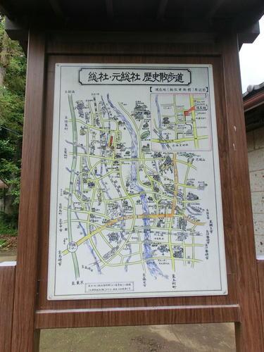 05総社資料館入り口の絵地図.JPG