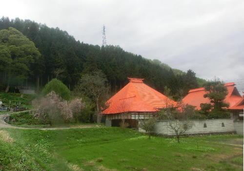 20120504朧月夜音楽祭-04車中から赤屋根のお寺.JPG